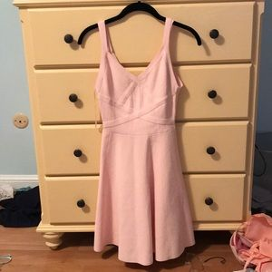 pink guess fit and flare dress